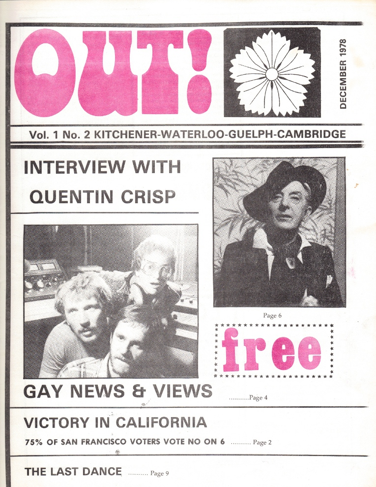 Scan of Out! Vol 1 from December 1978